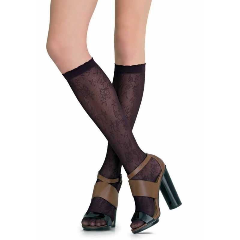 3/4 чорапи на флорални мотиви