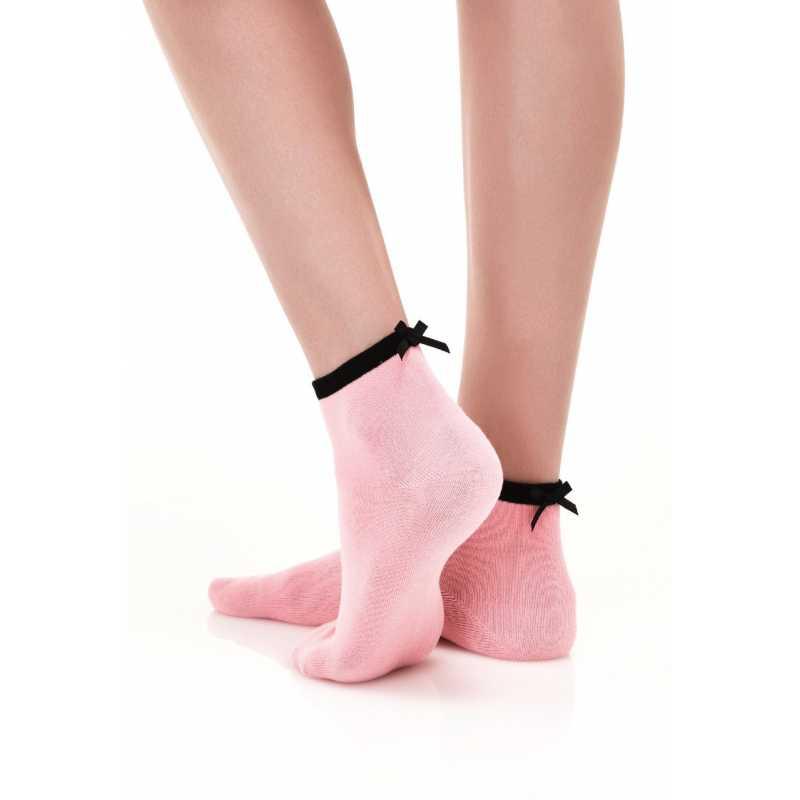 Памучни чорапи с панделка