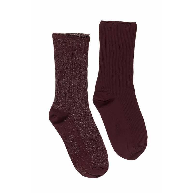 Чорапи със сребристи нишки 2 чифта в опаковка