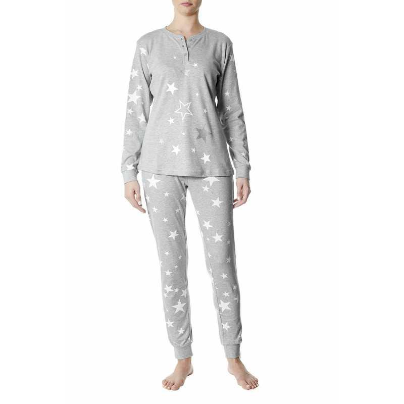 Пижама интерлог с десен на звездички