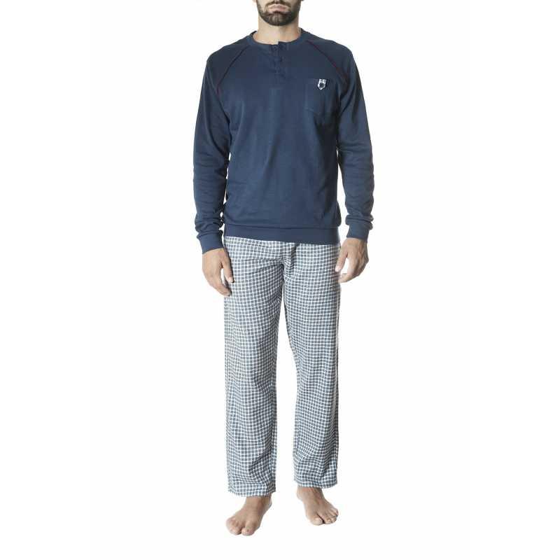 Мъжка пижама интерлог на каре