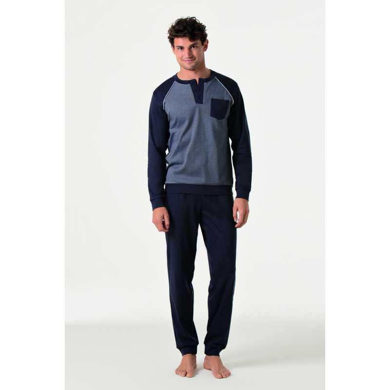 Мъжка пижама интерлог на ситно райе