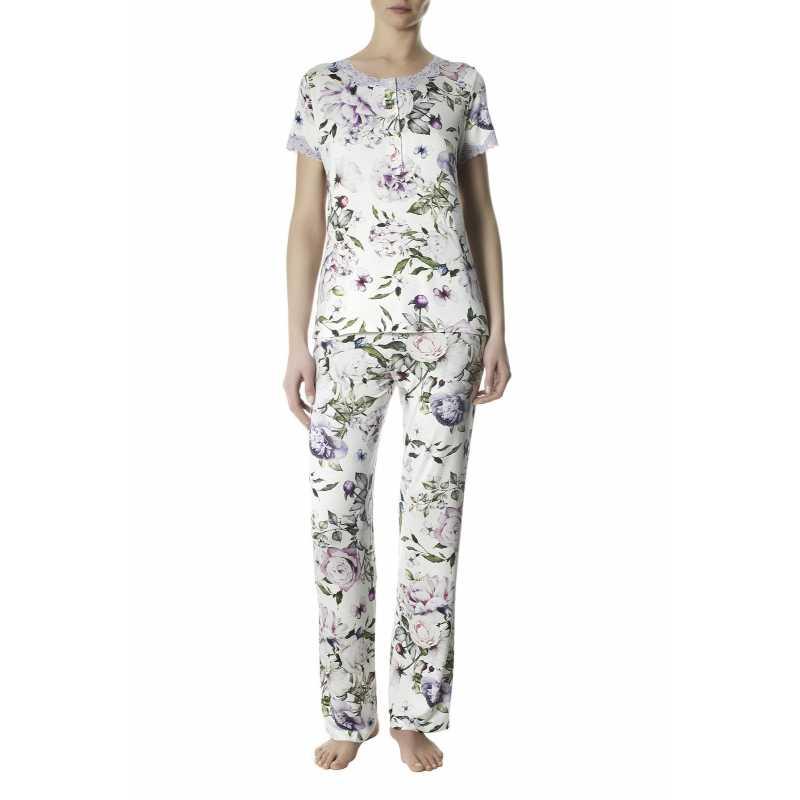 Пижама от вискоза на цветя