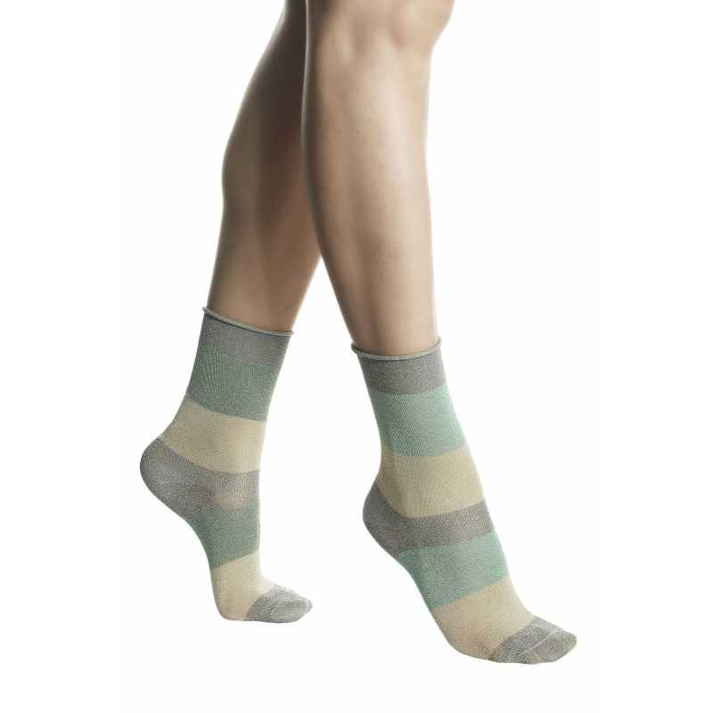 Цветни къси чорапи с ламе