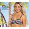 Underwire bra  bikini zebra and flower pattern