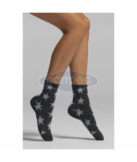 Къси памучни чорапи на звездички