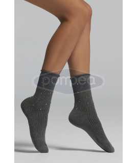 Къси чорапи рипс с декорация