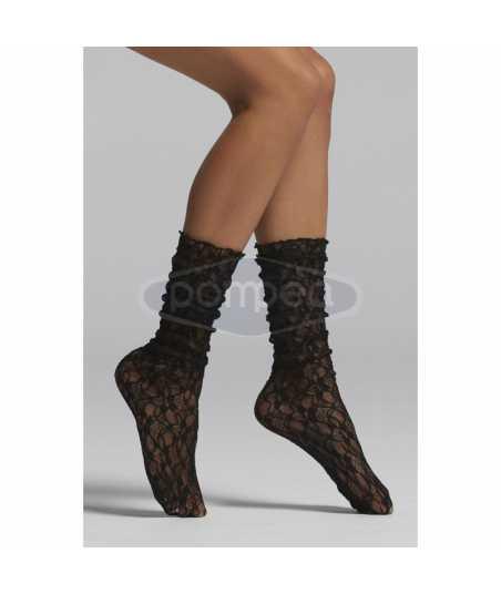 Дантелени дамски чорапи