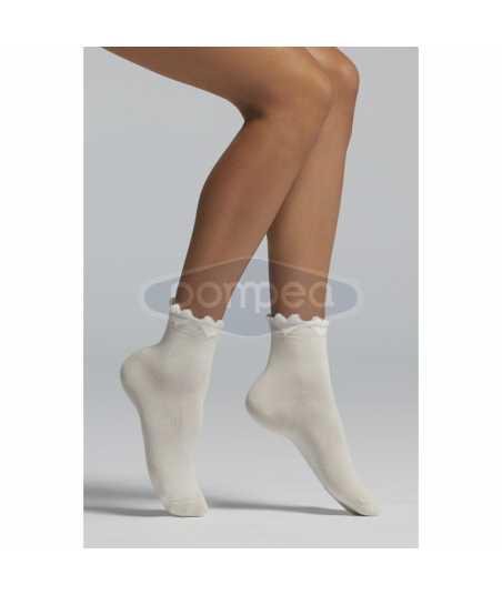 Къси памучни чорапи със сърчица