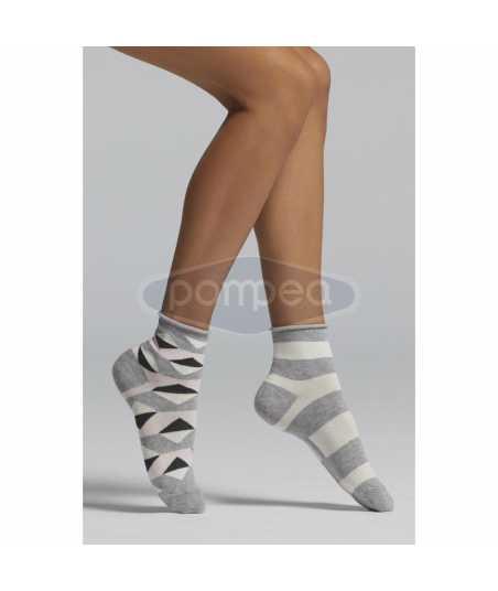 Цветни дамски чорапи 2 чифта в опаковка