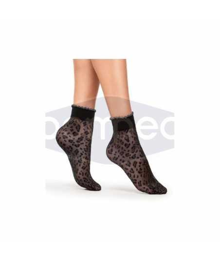Къси чорапи 40 den, леопардови мотиви
