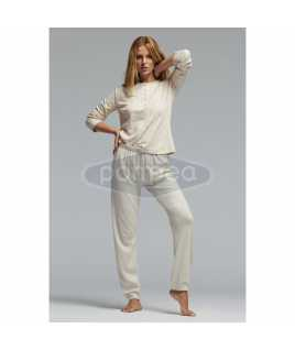 Дамска памучна пижама интерлог на звездички