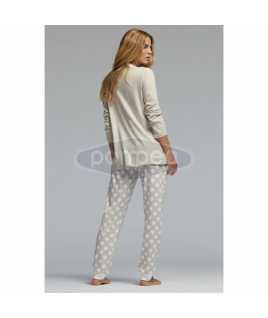 Интерлог дамска пижама с дълъг ръкав със слонче