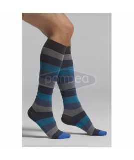 3/4 мъжки чорапи на цветни райета