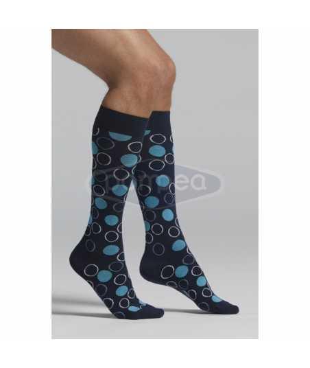 3/4 мъжки чорапи на цветни кръгове