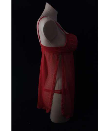 Дамска нощница в червено или черно