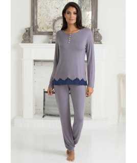 Дамска елегентна пижама с дантела от вискоза
