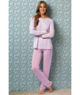 Дамска пижама от вискоза на цветя
