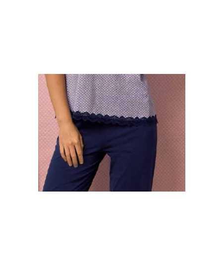 Дамска лятна пижама с потник и къси панталони