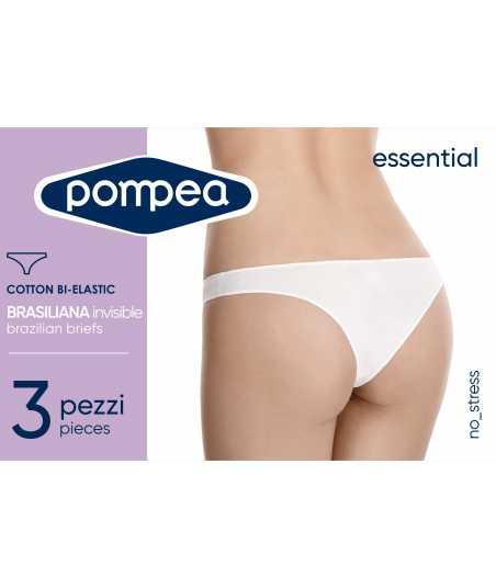 Комплект 3 броя дамска памучна бразилиана