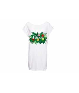 Плажна памучна макси тениска