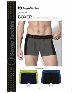 Мъжки памучен боксер с цветен ластик